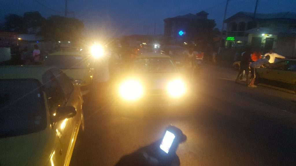 Drivers parking and stopping colleagues at Great Soppo stretch in Buea in-protest to Taxis seizures