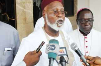 Abdulsalam Abubakar and Bishop Matthew Kukah