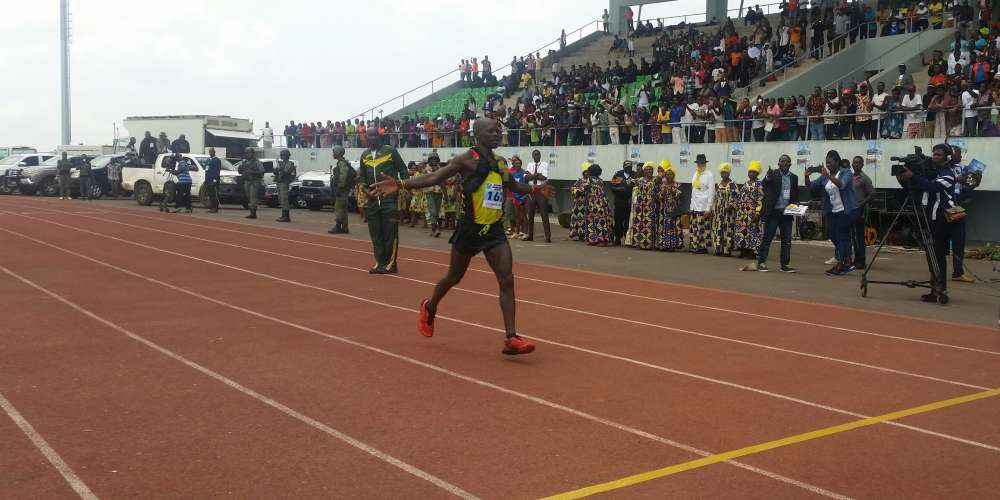 Mbatcha Eric winning d race for a third time