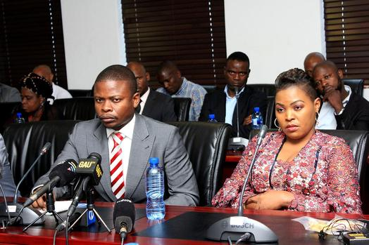 Enlightened Christian Gathering (ECG) church leader Shepherd Bushiri next to his wife Mary at the CRL Rights Commission. File photo: Dimpho Maja/African News Agency (ANA)