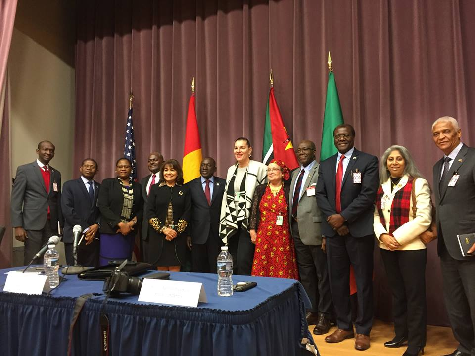 Ambassador Nashandi with other dignitaries at a recent US State Department event