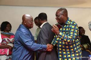 President Akuffo Addo with TUC leader