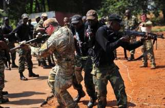 US troops and Cameroon special forces in a military drill