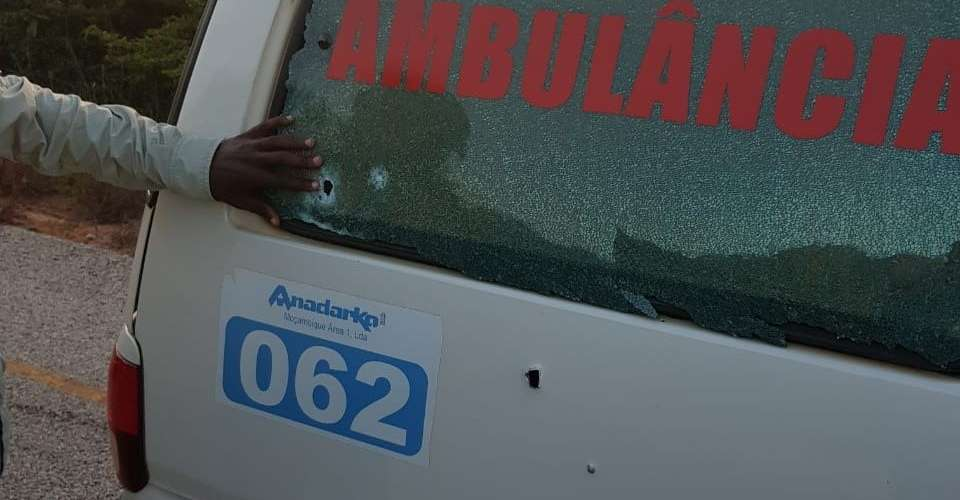 Photo: An ambulance of the Anadarko company that was also attacked