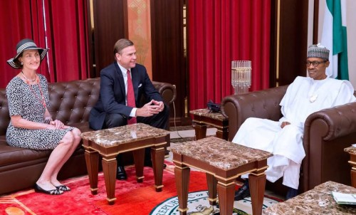 U.S envoy, William Stuart Symington, and Buhari