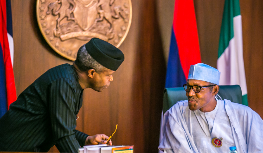 """""""I'm proud of our partnership and your unalloyed loyalty and your commitment to the service of Nigeria,""""says President of his Vice Yemi Osinbajo who survived a helicopter crash"""