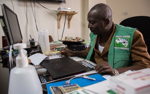 Dr Sakoba Keita from Guinea contacted labs around the world to affirm his country's ownership of samples CREDIT: EMMANUEL FREUNDTHAL
