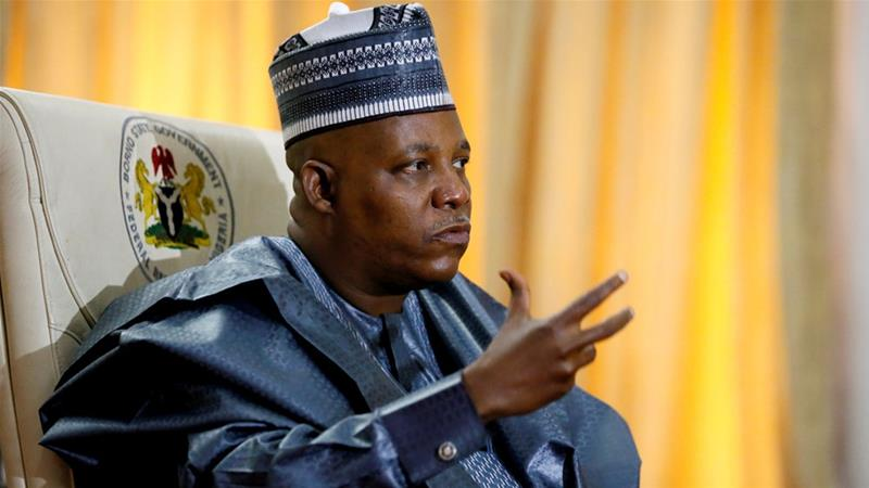 Kashim Shettima, governor of Borno state, during an interview with Reuters in 2017 [File: Afolabi Sotunde/Reuters]