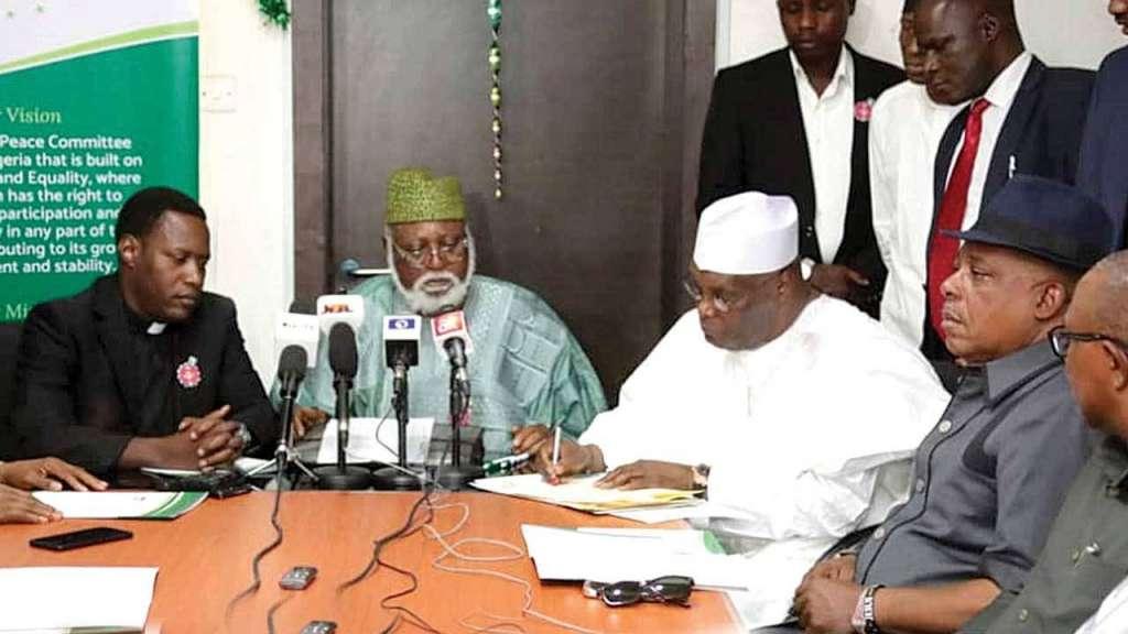 Atiku and Peace Committee Chairman Abdulsalami Abubakar