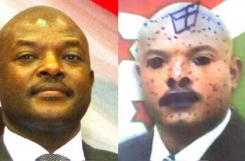 Such drawings on President Pierre Nkurunziza flooded the internet