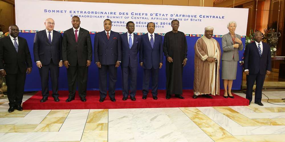 CEMAC heads of states, others, during their Yaounde meeting in December 2016