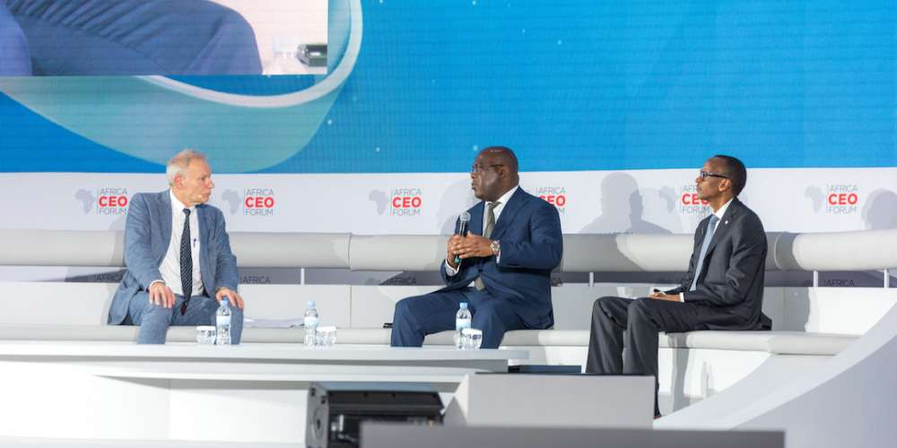 Presidents Paul Kagame, Felix Tshisekedi  Pledge Commitment to New Era of Regional and Bilateral cooperation at Closure of 7th Edition of Africa CEO Forum in Kigali