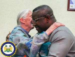 Goodall was decorated by by Sierra Leone's President Julius Maada Bio