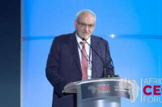 IFC CEO Philippe Le Houérou speaks at the Africa CEO Forum in Kigali, Monday