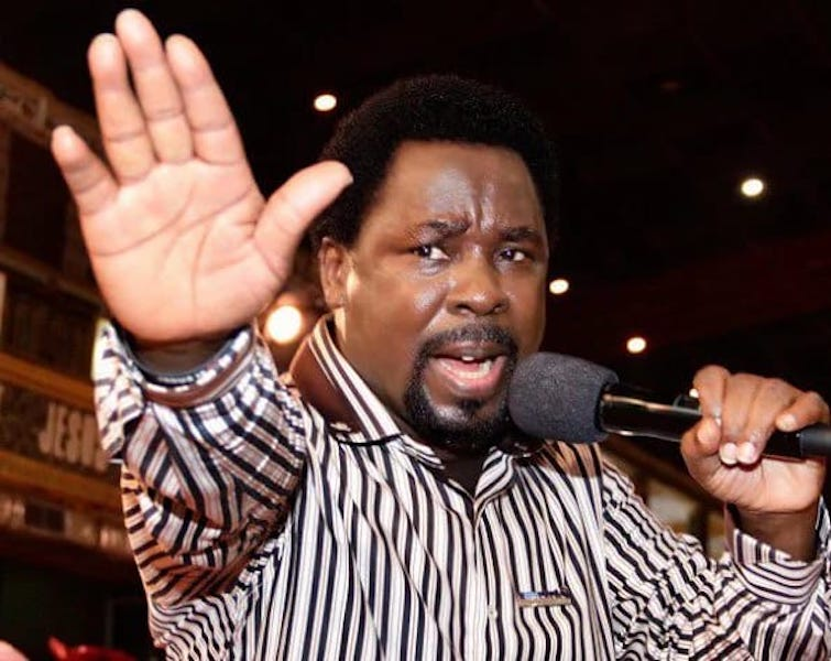 Prophet T.B. Joshua famously predicted  the victory of Hillary Clinton in the 2016 U.S elections