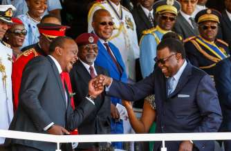Namibia Bestows Highest Honour to President Kenyatta