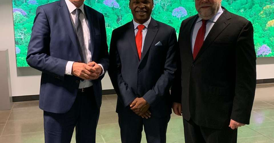 NJ Ayuk, Executive Chairman, African Energy Chamber with Gerhard Müller, German Minister for Economic Cooperation and Development, and Günter Nooke, Personal Representative for Africa to German Chancellor Angela Merkel