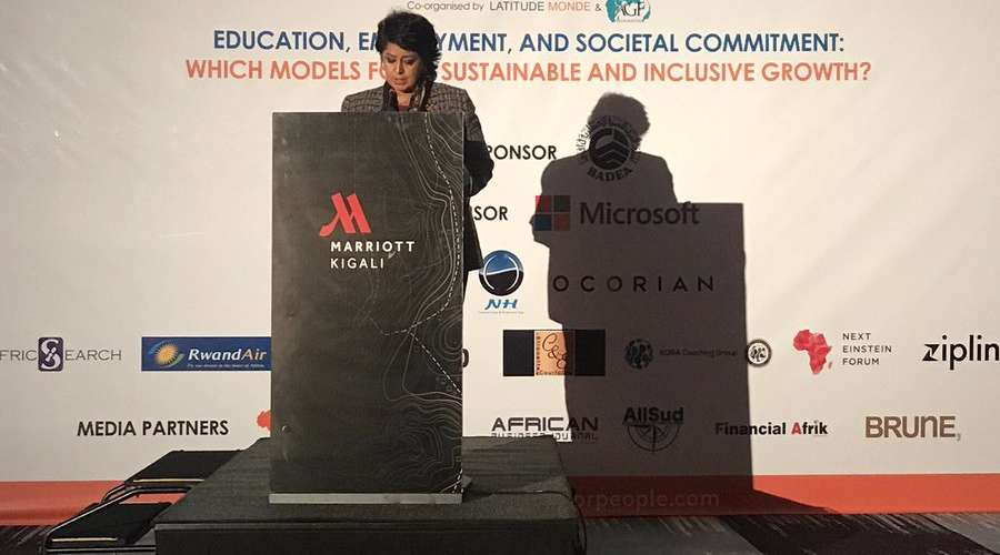 Ameenah GURIB-FAKIM, 6th president of the Republic of Mauritius at the 3rd Edition of the African Business & Social Responsibility Forum