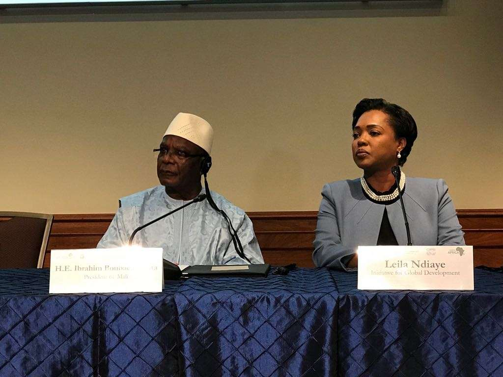 Leila Ndiaye with the President of Mali,the IGD remains a credible development partner for Africa