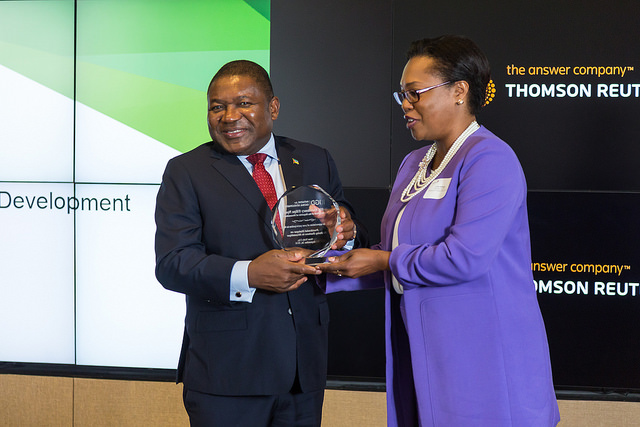 With President Nyusi of Mozambique . Mozambique will host one of the Advanced Executive Program sessions