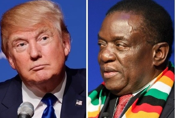 United States President Donald Trump and Zimbabwean President Emmerson Mnangagwa