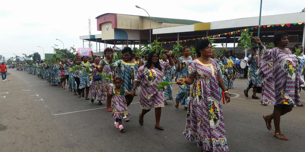 Women in Buea, Cameroon celebrating women's day with a call for peace