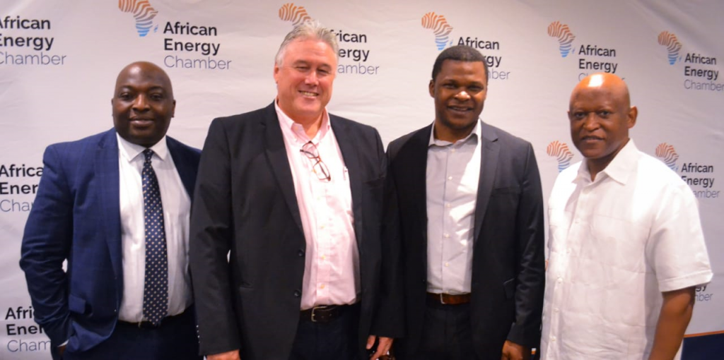 AEC's Senior Vice President Verner Ayukegba, Niall Kramer, CEO of the South African Gas Alliance (SAOGA), Centurion Law Group CEO and AEC Executive Chairman NJ Ayuk and Mthozami Xiphu, SAOGA Board Chairman