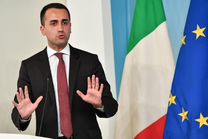 Luigi Di Maio, Italy's deputy prime minister (Photo credit ANDREAS SOLARO/AFP/Getty Images)