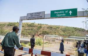 file picture President Kagame at the Katuna border