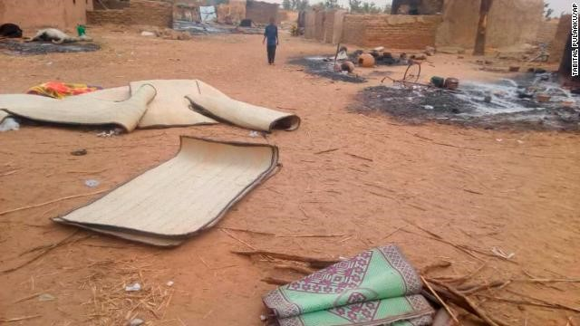 An entire village was razed down (photo credits: CNN)