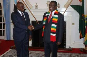 Zimbabwe's President Mnangagwa and his Botswana counterpart Masisi.South -South cooperation at work