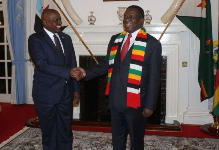 Zimbabwe's President Mnangagwa and his Botswana counterpart Masisi.South -South cooperation at work