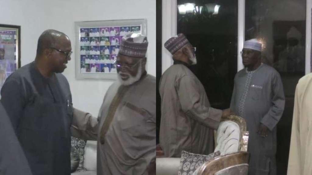 National Peace Committee meets PDP Presidential Candidate, Atiku Abubakar, Peter Obi