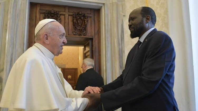 Pope Francis receives the President of the Republic of South Sudan   (Vatican Media)