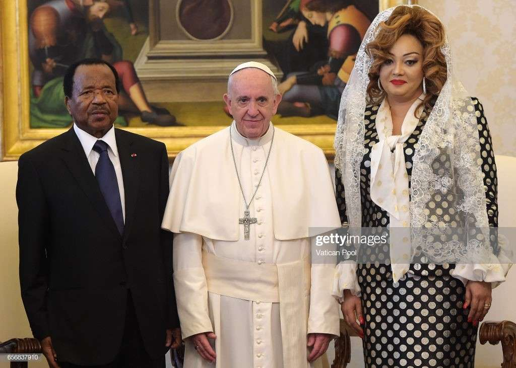 President Paul Biya and wife Chantal Biya met with Pope Francis at the Vatican on Thursday March 23 2017