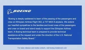 statement from Boeing