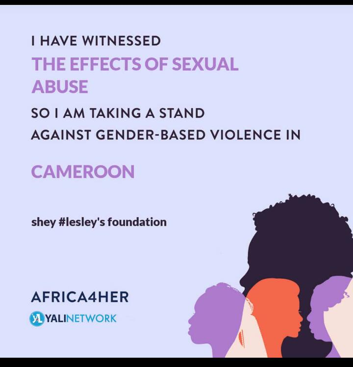 Sticker calling on women to speak out against sexual abuse and gender based violence