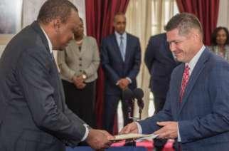 Ambassador  Kyle McCarter with President Kenyatta