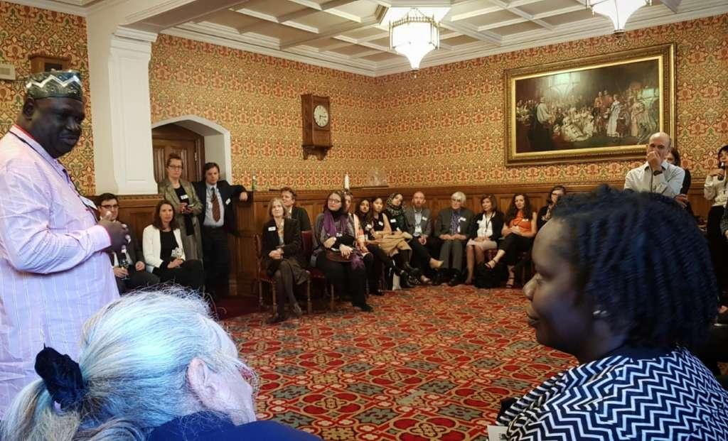 Mwalimu Ngwane speaking at the House of Lords