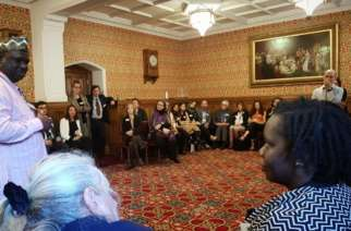 Mwalimu Ngwane speaking at the House of Lords