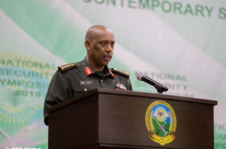 Rwanda's Chief of Defense Staff General Patrick Nyamvumba