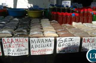 Libido boosters on display at the Trade Fair.Picture credit Lusaka Times