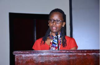 Kigali City Mayor Marie Chantal Rwakazina urges investors to construct affordable residential houses at the Kigali Investors Forum 2019