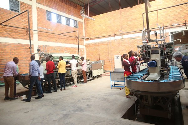 The newly established silk processing factory in Kigali produces high quality silk. Photo net