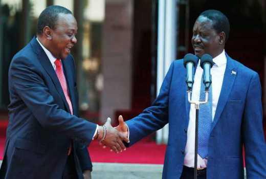 President Uhuru Kenyatta and H.E Raila Odinga
