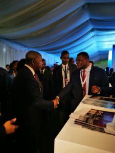 Angola's President João Lourenço with NJ Ayuk