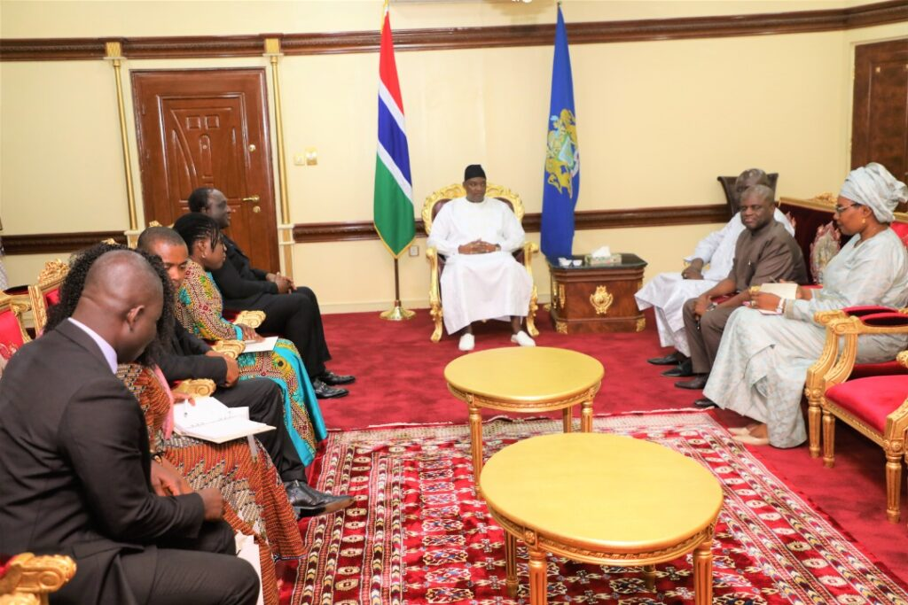 President Barrow with the delegation from Ghana