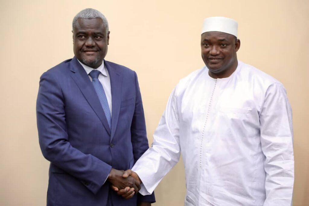 AU Chair Faki with Adama Barrow