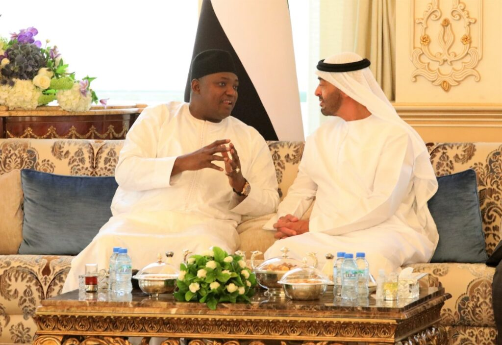 Barrow with UAE Crown Prince