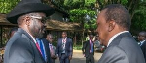 South Sudan's Salva Kiir and Uhuru Kenyatta of Kenya